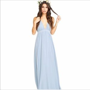 Show Me Your Mumu L Ava steel blue maxi dress